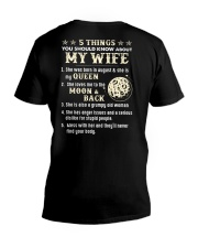 5 Things You Should Know About My Wife V-Neck T-Shirt thumbnail