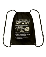 5 Things You Should Know About My Wife Drawstring Bag thumbnail