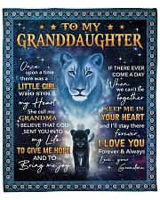 "Lion- Once Upon Time Girl - Grandma-Granddaughter Fleece Blanket - 50"" x 60"" front"
