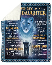 Lion- Once Upon Time Girl - Grandma-Granddaughter Sherpa Fleece Blanket tile