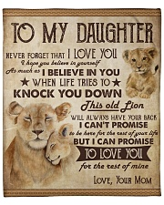 "Never Forget That I Love U Lion Mom To Daughter Fleece Blanket - 50"" x 60"" front"