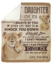 "Never Forget That I Love U Lion Mom To Daughter Sherpa Fleece Blanket - 50"" x 60"" thumbnail"
