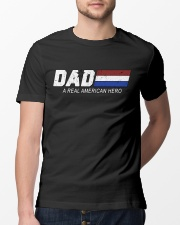 Dad A Real American Hero Classic T-Shirt lifestyle-mens-crewneck-front-13