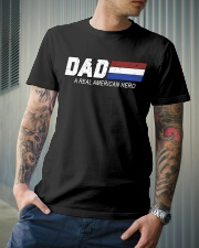Dad A Real American Hero Classic T-Shirt lifestyle-mens-crewneck-front-6