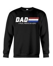 Dad A Real American Hero Crewneck Sweatshirt thumbnail
