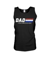 Dad A Real American Hero Unisex Tank thumbnail