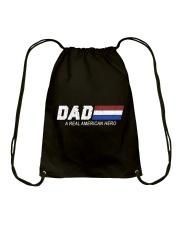 Dad A Real American Hero Drawstring Bag thumbnail