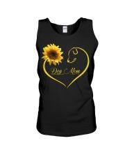 Dog Mom heart sunflower Unisex Tank thumbnail
