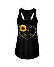 Dog Mom heart sunflower Ladies Flowy Tank thumbnail
