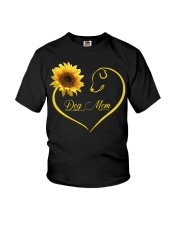 Dog Mom heart sunflower Youth T-Shirt thumbnail