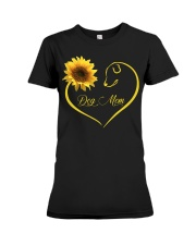 Dog Mom heart sunflower Premium Fit Ladies Tee thumbnail