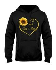 Dog Mom heart sunflower Hooded Sweatshirt thumbnail