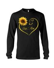 Dog Mom heart sunflower Long Sleeve Tee thumbnail