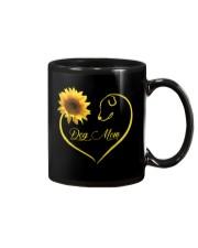 Dog Mom heart sunflower Mug thumbnail