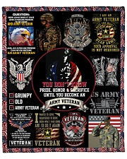 "I Am A Grumpy Old Army Veteran Fleece Blanket - 50"" x 60"" front"