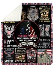 I Am A Grumpy Old Army Veteran Sherpa Fleece Blanket tile