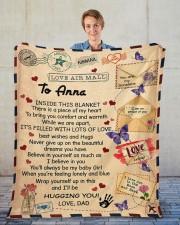 """Inside This Blanket Dad To Daughter Fleece Blanket - 50"""" x 60"""" aos-coral-fleece-blanket-50x60-lifestyle-front-01"""