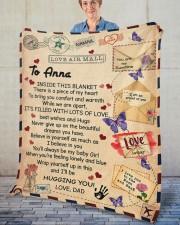 """Inside This Blanket Dad To Daughter Fleece Blanket - 50"""" x 60"""" aos-coral-fleece-blanket-50x60-lifestyle-front-02"""