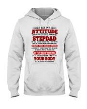 I Get My Attitude From My Freaking Awesome Stepdad Hooded Sweatshirt thumbnail