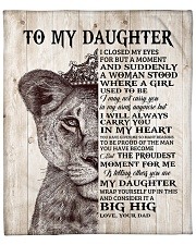 """Lion Crown-I closed my eyes moment D-To-Daughter Fleece Blanket - 50"""" x 60"""" front"""