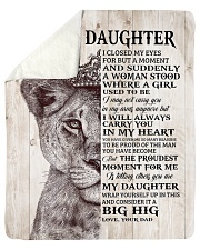 """Lion Crown-I closed my eyes moment D-To-Daughter Sherpa Fleece Blanket - 50"""" x 60"""" thumbnail"""