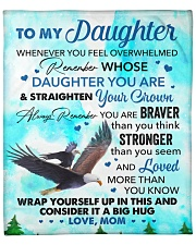 """Wherever Your Journey In Life - Mom To Daughter Fleece Blanket - 50"""" x 60"""" front"""
