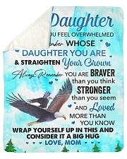 Wherever Your Journey In Life - Mom To Daughter Sherpa Fleece Blanket tile