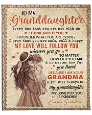 "Every Day That U Are Grandma To Granddaughter Fleece Blanket - 50"" x 60"" front"