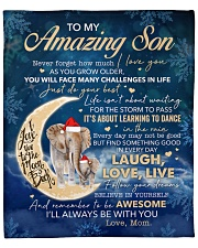 """Never Forget How Much I Love U Halfmoon Mom To Son Fleece Blanket - 50"""" x 60"""" front"""