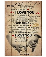 Husband I Love You To The Moon And Back 11x17 Poster front