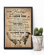 Husband I Love You To The Moon And Back 11x17 Poster lifestyle-poster-8