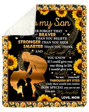 Never 4get U Are Braver Sunflower Mom To Son Sherpa Fleece Blanket tile