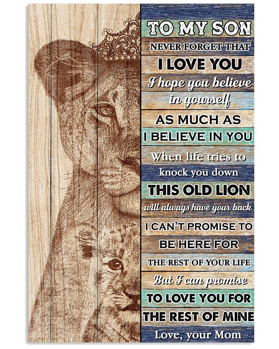 Son This Old Lion Will Alwasy Have Your Back 11x17 Poster