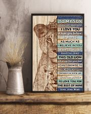 Son This Old Lion Will Alwasy Have Your Back 11x17 Poster lifestyle-poster-3