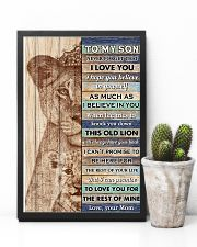 Son This Old Lion Will Alwasy Have Your Back 11x17 Poster lifestyle-poster-8