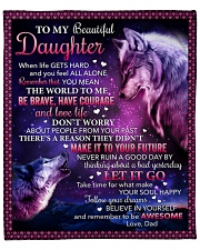 """When Life Gets Hard And Feel Alone Dad To Daughter Fleece Blanket - 50"""" x 60"""" front"""