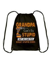 Grandpa Can Fix What Stupid Does Drawstring Bag thumbnail