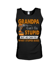 Grandpa Can Fix What Stupid Does Unisex Tank thumbnail
