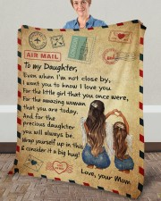 "Even When I'm Not Close By Mom To Daughter Fleece Blanket - 50"" x 60"" aos-coral-fleece-blanket-50x60-lifestyle-front-02a"