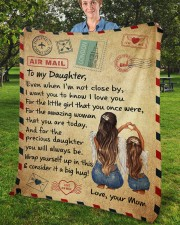 "Even When I'm Not Close By Mom To Daughter Fleece Blanket - 50"" x 60"" aos-coral-fleece-blanket-50x60-lifestyle-front-02b"