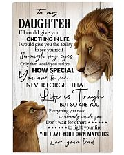 If I Could GIve U 1 Thing In Life Dad To Daughter 11x17 Poster thumbnail