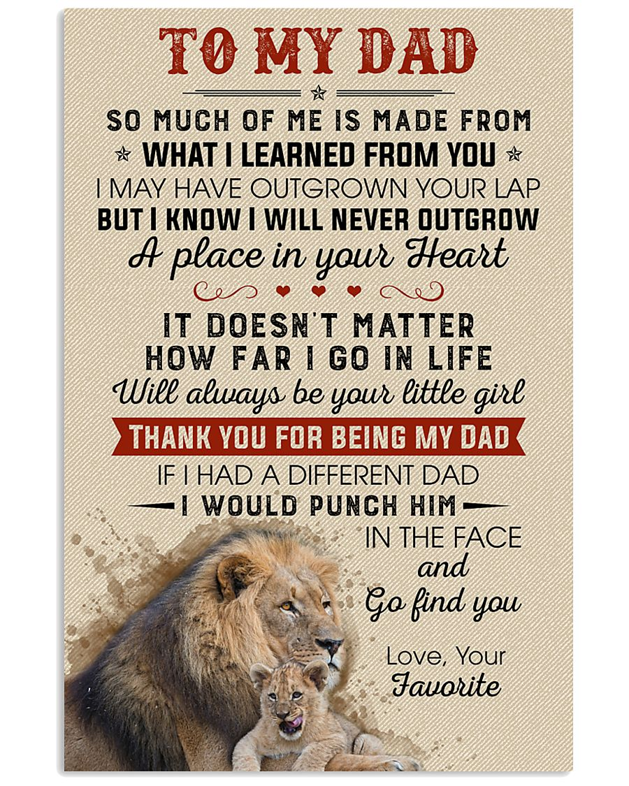 Thanks For Being My Dad Will Always Be Your Girl 11x17 Poster