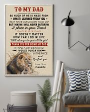 Thanks For Being My Dad Will Always Be Your Girl 11x17 Poster lifestyle-poster-1
