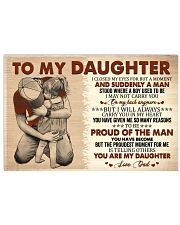 I Closed My Eyes For But A Moment Dad To Daughter 17x11 Poster thumbnail
