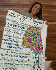 "My Dear Step Daughter Sherpa Fleece Blanket - 50"" x 60"" aos-sherpa-fleece-blanket-50x60-lifestyle-front-09b"