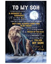 I Closed My Eyes For But A Moment Wolf Mom To Son Vertical Poster tile