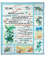 """Never Forget That I Love U-Turtle Mom-To-Son Fleece Blanket - 50"""" x 60"""" front"""