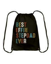 Best Effin Stepdad Ever Drawstring Bag thumbnail