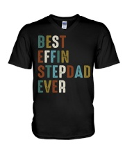 Best Effin Stepdad Ever V-Neck T-Shirt thumbnail