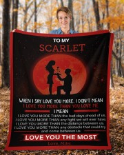 """Personalized When I Say I Love U To Girlfriend Fleece Blanket - 50"""" x 60"""" aos-coral-fleece-blanket-50x60-lifestyle-front-01b"""